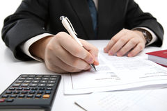 Man signing a contract Royalty Free Stock Photography