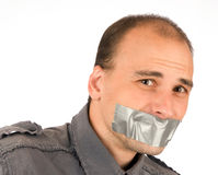 Man silenced Stock Photos