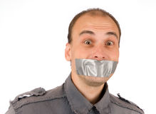 Man silenced Royalty Free Stock Image