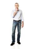 Man with silent gesture Royalty Free Stock Photos