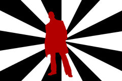 Man silhouete. In a Pop Art Style vector illustration