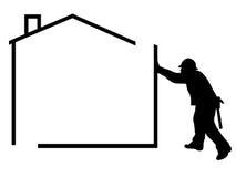 Man silhouette Stock Image