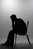 Man in silhouette Stock Images