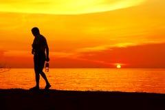 Man silhouette Stock Photo