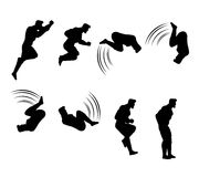 Man Silhouette Animation Sprite. Vector Illustration of Man Silhouette Animation Sprite Sequence Stock Photos