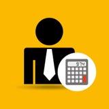 man silhouette business and calculator design icon stock illustration