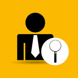 Man silhouette business and searching design icon. Illustration Stock Photos
