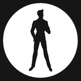 Man. Silhouette-James Bond (black royalty free illustration