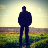 Man Silhouette outdoor Stock Image