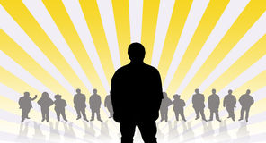 Man silhouette with people background Royalty Free Stock Photos
