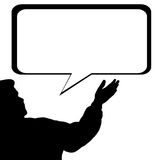 Man silhouette  speech bubble Royalty Free Stock Photo