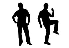 Man silhouette vector Stock Photography