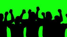 Man silhouettes dancing loop stock footage