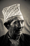 Man of Sindhupalchowk, Nepal royalty free stock images