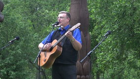 Man sing stock footage