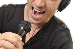 Man singing royalty free stock photography
