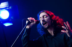 Man singing at the concert Stock Photography