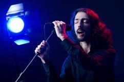 Man singing at the concert Royalty Free Stock Image