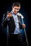 Man singing Royalty Free Stock Photography