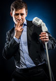Man singing Stock Photo