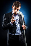 Man singing Royalty Free Stock Image