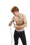 Man singing Royalty Free Stock Photos