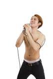 Man singing Stock Photos