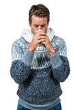 Man sipping coffee Stock Photos