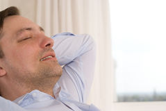 Man Sits And Dreams Royalty Free Stock Images