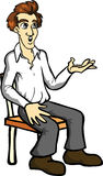 Man Sitting Stock Photo