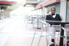 Man sitting alone Royalty Free Stock Photography