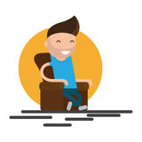 Man sitting In armchair Royalty Free Stock Photos