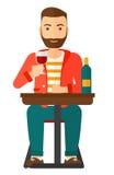 Man sitting at bar Royalty Free Stock Images
