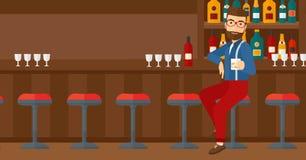Man sitting at bar. Royalty Free Stock Photos