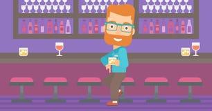 Man sitting at bar. Royalty Free Stock Image