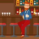 Man sitting at bar. Stock Photos