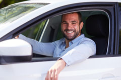 Man sitting in car Royalty Free Stock Photography