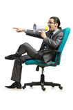 Man sitting on  chair Royalty Free Stock Image