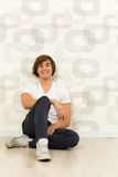 Man sitting on the floor Royalty Free Stock Image