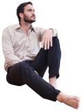 Man sitting on the floor Stock Images