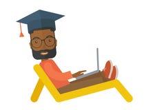 Man sitting with laptop Stock Image