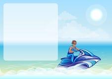 Free Man Sitting On Water Scooter, Jet Ski Royalty Free Stock Photos - 42217158