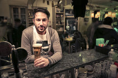 Man sitting in a pub royalty free stock photography
