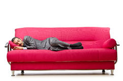 Man sitting in the sofa Royalty Free Stock Images