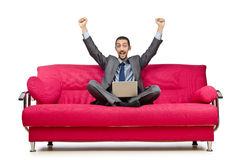 Man sitting in   sofa Royalty Free Stock Photography
