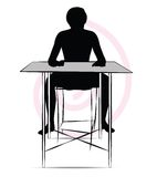 Man sitting at the table Stock Photo
