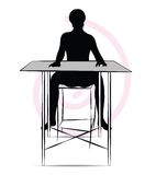 Man sitting at the table Royalty Free Stock Images