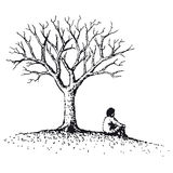 Man sitting (vector) Stock Images