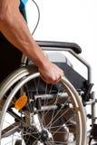 Man sitting in wheelchair Royalty Free Stock Photos