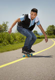 Man with skateboard Royalty Free Stock Photography